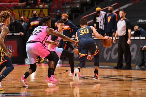 Warriors start road trip with loss to Heat