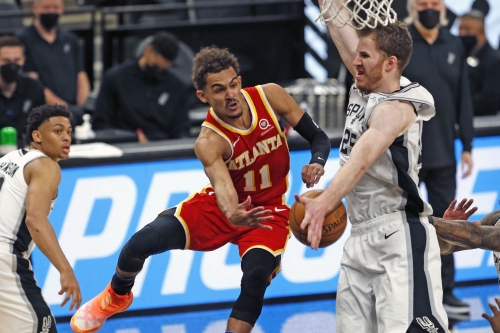 Hawks recover from late-game foibles to seal double overtime road victory against Spurs