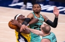 Hobbled Indiana Pacers lose season series to Charlotte Hornets, drop 3rd game in a row