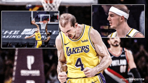 Lakers' Alex Caruso brings the pain with epic throwdown on unsuspecting Kings player