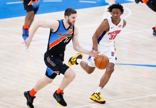 Detroit Pistons vs. OKC Thunder: Best photos from Chesapeake Energy Arena