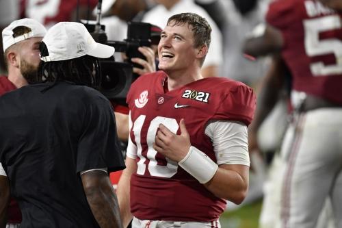 "Mock draft roundup: Schefter says he'd be ""shocked"" if the 49ers didn't take Mac Jones"