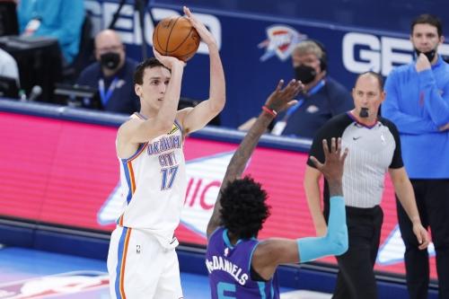 Aleksej Pokusevski's career high not enough as Thunder fall to Hornets 113-102