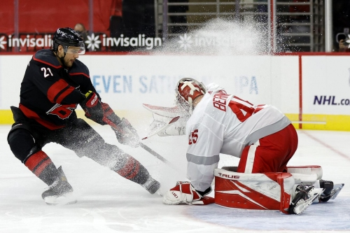Morning Skate: Red Wings at Hurricanes