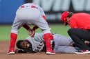 Angels place Dexter Fowler on IL with sprained knee, recall Jaime Barria