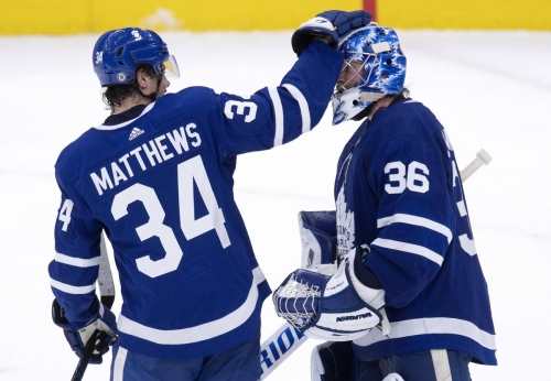 Watch: Jack Campbell lauds chemistry between Auston Matthews and Mitch Marner