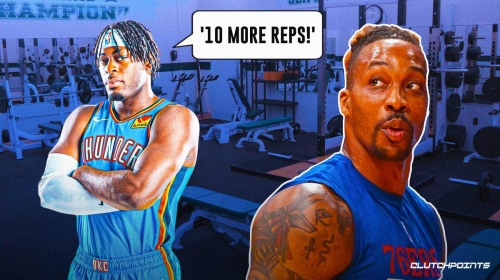 VIDEO: Thunder's Lu Dort shoves Dwight Howard in the weight room with muscle and-1