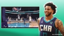 Hornets' Miles Bridges' perfect 5-word reaction to posterizing Clint Capela