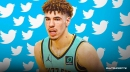 VIDEO: Hornets rookie LaMelo Ball's epic reaction to Miles Bridges' brutal poster on Clint Capela