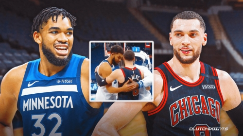 Bulls' Zach LaVine shares heartwarming moment with Karl-Anthony Towns' dad