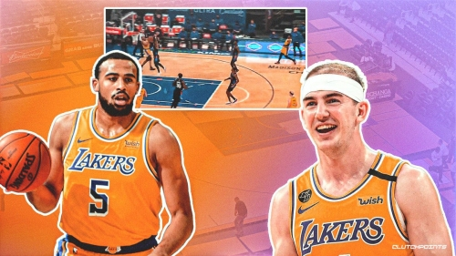 Lakers' Alex Caruso, Talen Horton-Tucker show epic connection with alley-oop