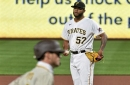Cahill shines, Oviedo struggles as Pirates drop opener to San Diego