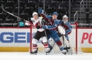Avalanche hang on to win wacky game 4-2
