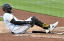 Tempers flare late over hit batters in Pirates' victory over Padres