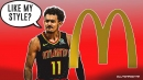 Hawks star Trae Young flexes major McDonald's drip while sidelined with injury