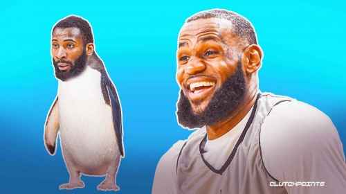 Lakers' LeBron James' reaction to Andre Drummond's 'Big Penguin' nickname