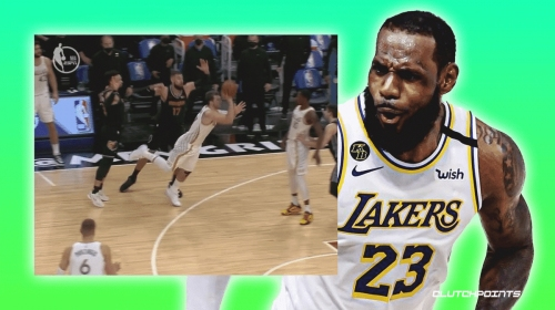 Lakers' LeBron James reacts to Luka Doncic's unreal buzzer-beater