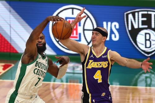 Boston Celtics at Los Angeles Lakers Game #56 4/15/21