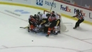 Flyers can't score after massive pileup in Penguins crease