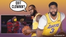 VIDEO: Lakers' Anthony Davis clowns LeBron James with cameras on him
