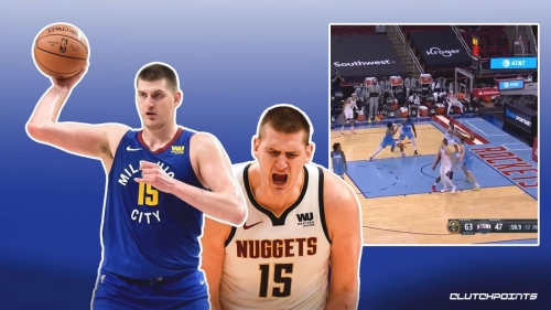 Nuggets star Nikola Jokic pulls off the most ridiculous assist you'll ever see