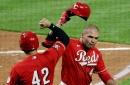 Joey Votto rocks Cleveland, Cincinnati Reds win series opener 10-3