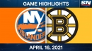 Swayman records first NHL shutout as Bruins blank Islanders