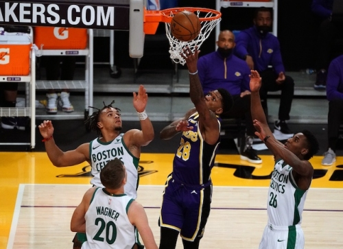 Kyle Kuzma, Dennis Schroder Hail Lakers' Second Unit For Playing Harder Than Starters Against Celtics