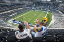 Rams fans get a look inside SoFi Stadium, with visions of Super Bowl LVI