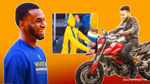 VIDEO: Warriors star Stephen Curry rides motorcycle to celebrate sweet move from Andrew Wiggins