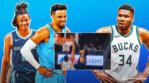 VIDEO: Grizzlies' Dillon Brooks outjumps Giannis Antetokounmpo for massive putback dunk