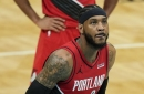Carmelo Anthony Can't Lead Hapless Blazers Back Against Hornets