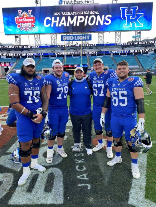 The Kentucky football coach who helped fill in for John Schlarman has his own cancer story