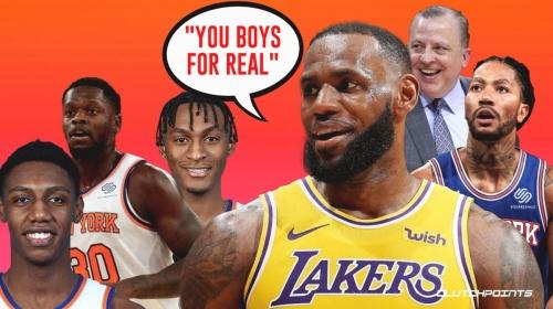 LeBron James reacts to Knicks 8-game winning streak