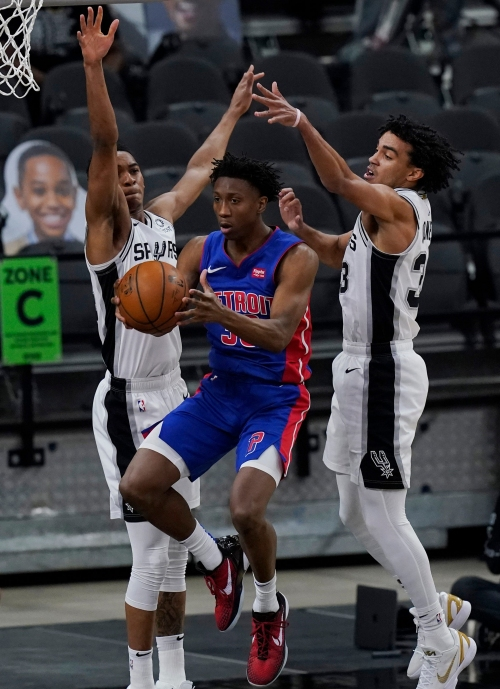 Detroit Pistons try to keep it close, but ultimately lose to Spurs, 106-91, in San Antonio
