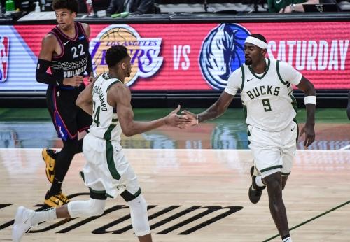 Photos: Bucks 124, 76ers 117