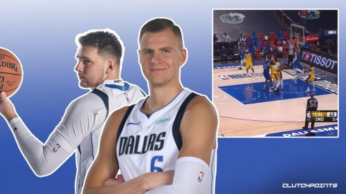 VIDEO: Luka Doncic links up with Kristaps Porzingis for massive jam